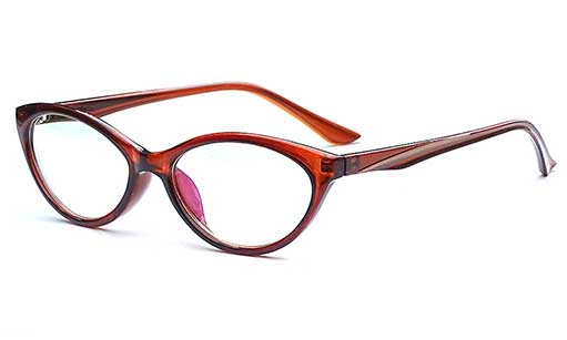 Brown Designer cateye spectacles frames