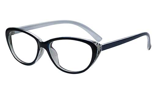 Black and White Designer cateye spectacles frames