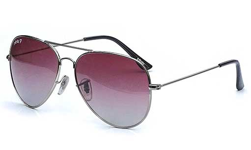 Polarized Pink with Silver frame