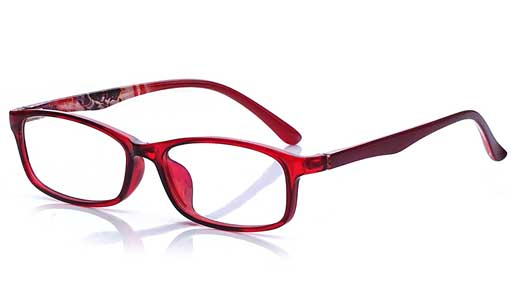 Fashionable jelly red printed Fullframe