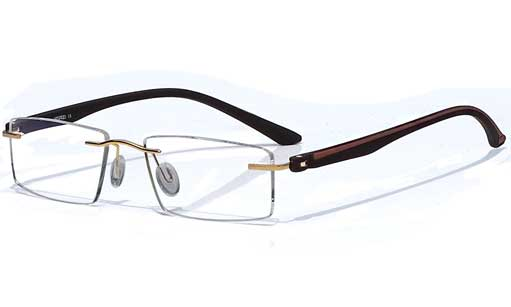 Black with Brown designer Rimless eyeglasses