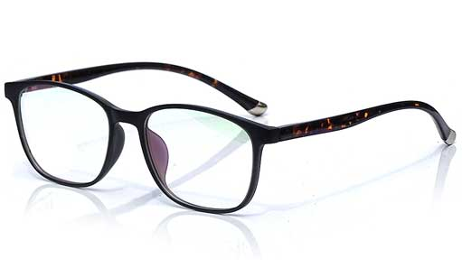 Black eyeglass