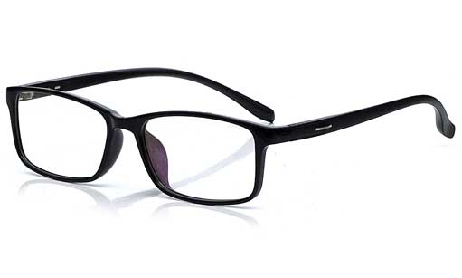 Black rectangular eyeglass