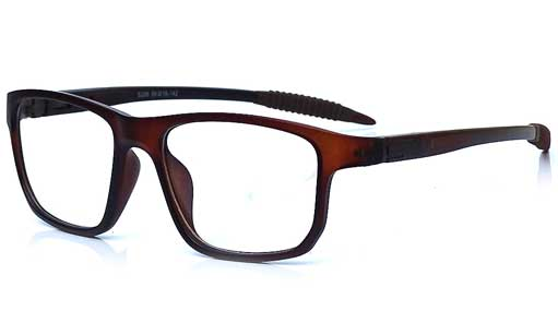 Brown wrap eyeglass