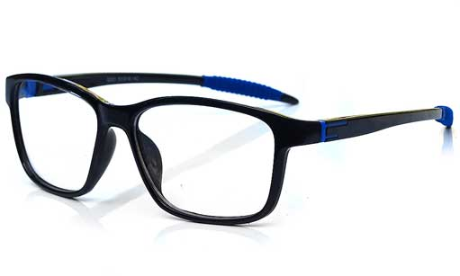 Black with blue touch wrap eyeglass