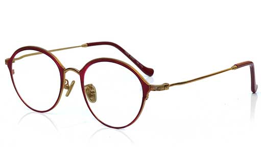 Golden with Red Designer eyeglasses online