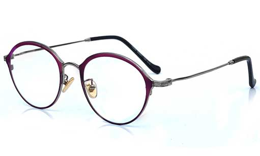 Purple with silver Designer eyeglasses online